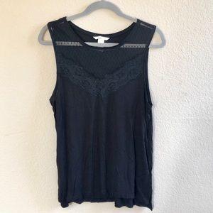 H&M black lace sleeveless top